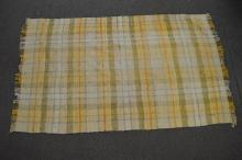 19TH CENT HOOKED THROW RUG 108