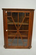 19TH CENT PINE HANGING CORNER CUPBOARD