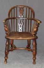 Splat back Windsor armchair in oak