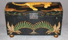 Dome top trunk with leopard