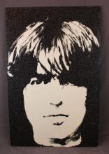 Original Blake Ballard crystal art of George Harrison