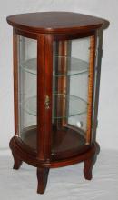 Dollhouse display cabinet vitrine in mahogany. 19 3/8