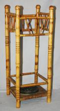 Antique American bamboo umbrella stand. 29 1/2