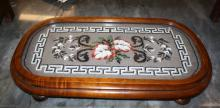 Victorian embroidered tray