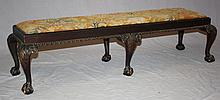 Chippendale 6-leg ball & claw window bench