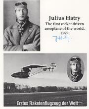 Julius Hatry Signed Rocket Driven Aeroplane