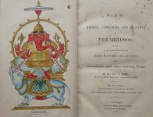 A view of the History, literature and Religion of the Hindoos by Rev W War