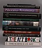 A collection of art reference books, to include