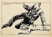 Raymond PETTIBON, Raymond GINN, dit (né en 1957)   I DID NOT KILL HER; ALL I DID WAS KISS HER !