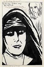 Raymond PETTIBON, Raymond GINN, dit (né en 1957)   FOR SHE GAVE UP SO MUCH