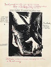 Raymond PETTIBON, Raymond GINN, dit (né en 1957)   HOLY BIBLE. TO WHICH THE DIARIST ADD