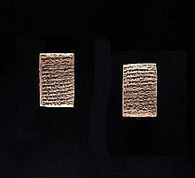 TABLETTE CUNÉIFORME  Art sumérien, 2028 avant J.C.  Matériau  Terre cuite