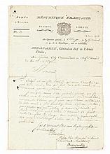 BONAPARTE NAPOLÉON Lettre signée « Bonaparte », adressée au général Colli.