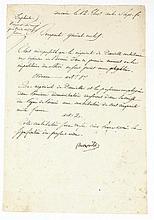 BONAPARTE NAPOLÉON Pièce signée « Bonaparte », adressée au général Brune. Le Caire, 12 thermidor an VI [30 juillet 1798] ;