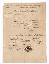 NAPOLÉON Ier Pièce autographe