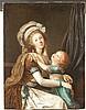 ATTRIBUÉ À ADOLPHE-ULRICH WERTMÜLLER (1751-1811) PORTRAIT D'UNE DAME DE QUALITÉ ET DE SON FILS Paris, vers 1792 Huile sur toile