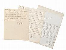 NAPOLÉON Ier Ensemble de 2 lettres signées, adressées au général Clarke, duc de Feltre