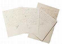 NAPOLÉON Ier Ensemble de 3 lettres signées « Napol », adressées au général Clarke, duc de Feltre
