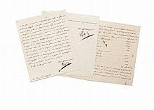 NAPOLÉON Ier Lettre signée « Napoléon », adressée au prince Eugène.