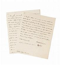 NAPOLÉON Ier Ensemble de 2 lettres signées, adressées au prince Eugène :