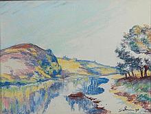 Armand GUILLAUMIN (1841-1927) PAYSAGE, 1910 Pastel