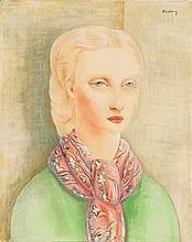 Moïse KISLING (1891-1953) JEUNE FILLE BLONDE AU
