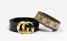 GUCCI Made In Italy. CEINTURE en toile siglée et