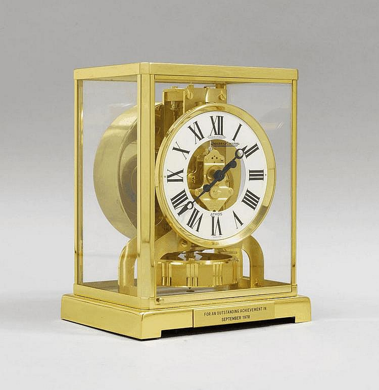 ATMOS CLOCK, Jaeger-le-Coultre, 20th c. Glass and
