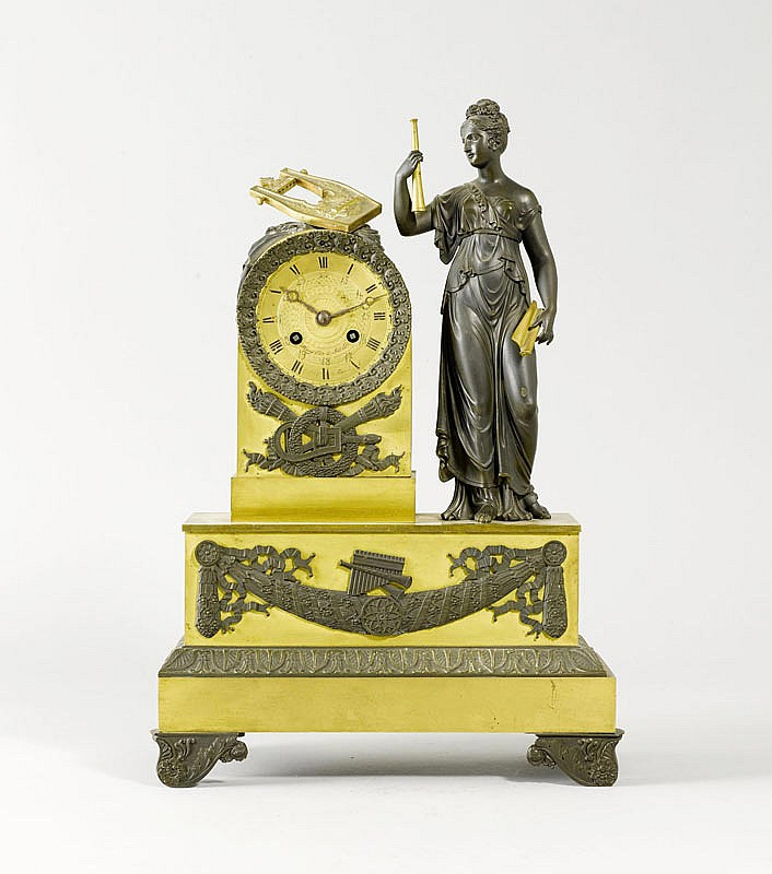 A MANTEL CLOCK, 2nd Empire, France. The dial
