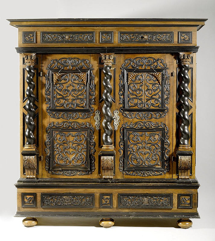 A BAROQUE HALL CUPBOARD, possibly Switzerland,