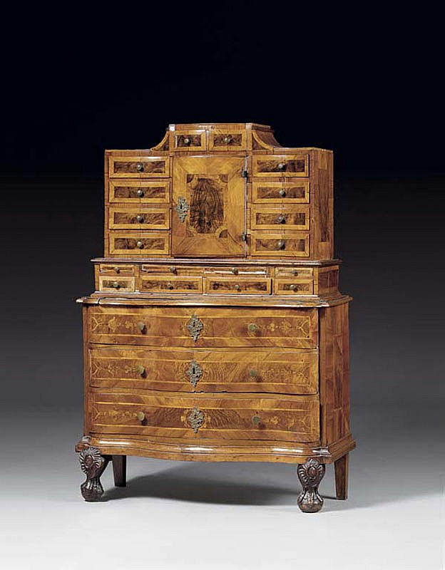 A BAROQUE CHEST ON CHEST, probably Würzburg circa