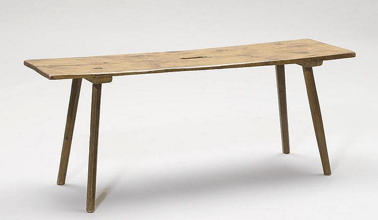 A BIEDERMEIER BENCH, Switzerland. Softwood. L 120