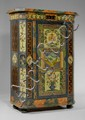 A PAINTED CUPBOARD, Tirol, dated 1824. Pine with