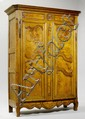 A FRENCH LOUIS XV ARMOIRE, Bresse. Oak and elm