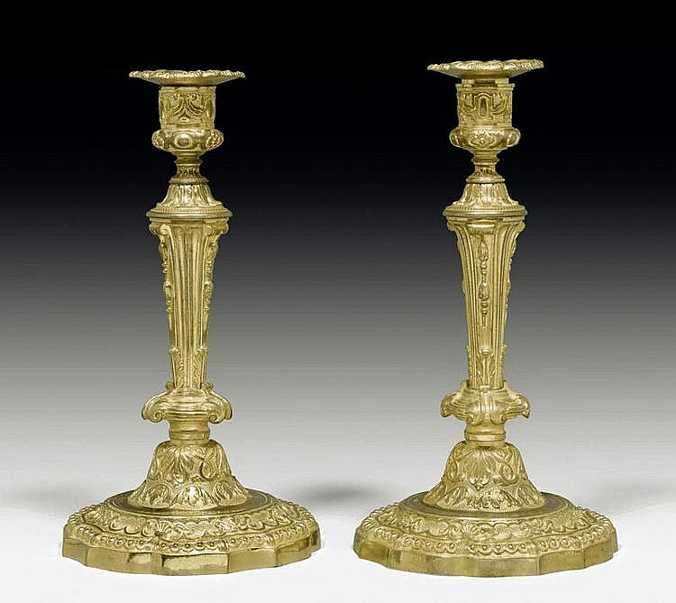 PAIR OF CANDLESTICKS, Louis XVI style, Napoleon