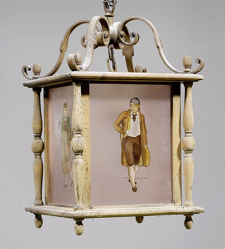 PAIR OF LANTERNS, Swiss, Baroque style, 19th