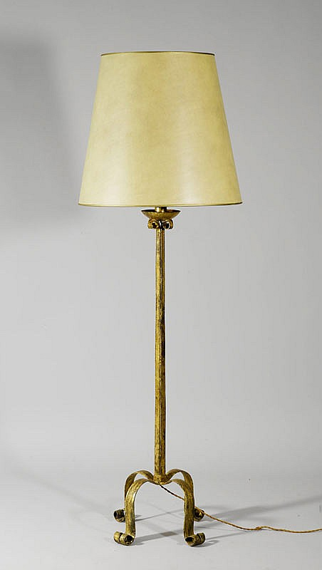 TALL CANDLESTICK AS FLOOR LAMP, in Gothic style.