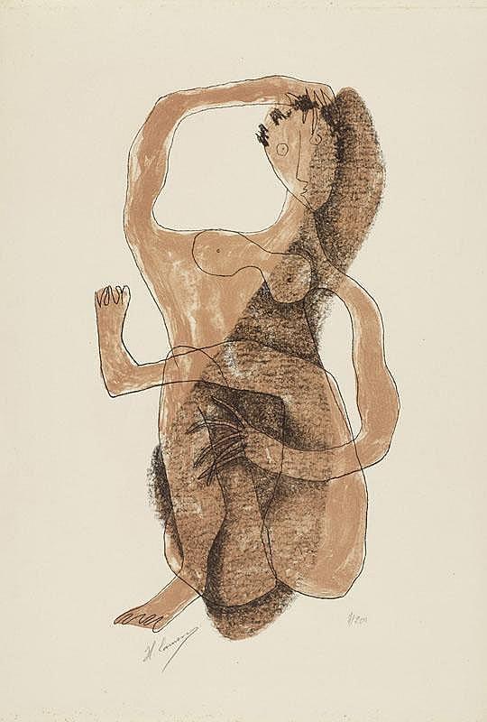 LAURENS, HERNI (1885 Paris 1954) 2 sheets: Femme