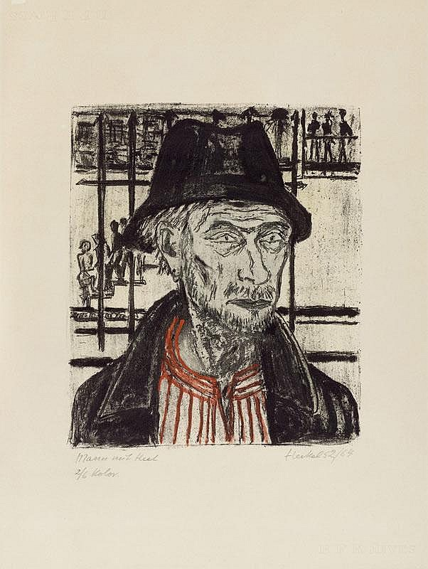 HECKEL, ERICH (Döbeln 1883 - 1970 Radolfzell) Man