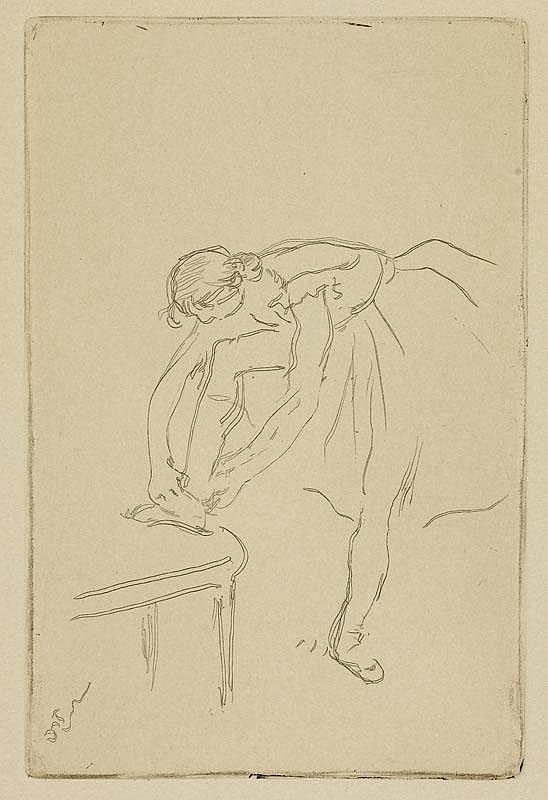 DEGAS, EDGAR (1834 Paris 1917) Danseuse mettant