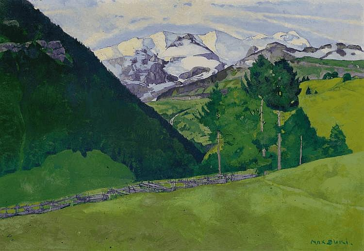 BURI, MAX (Burgdorf 1868 - 1915 Interlaken) View