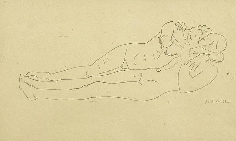 HODLER, FERDINAND (Bern 1853 - 1918 Geneva) Study