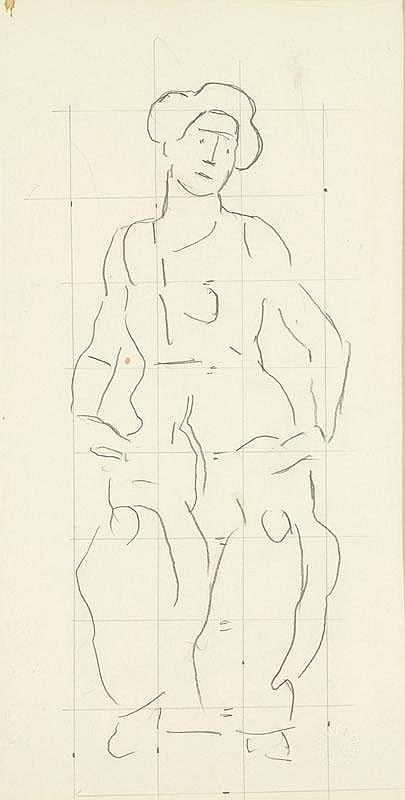 HODLER, FERDINAND (Bern 1853 - 1918 Geneva) Sketch