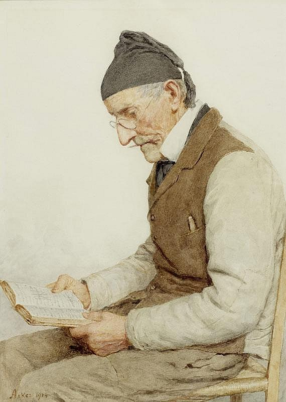 ANKER, ALBERT (1831 Ins 1910) Seated peasant