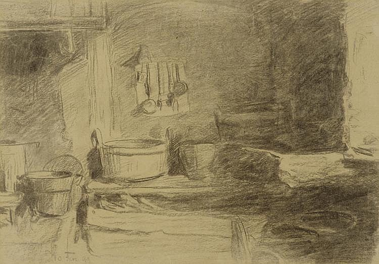 ANKER, ALBERT (1831 Ins 1910) Recto: kitchen