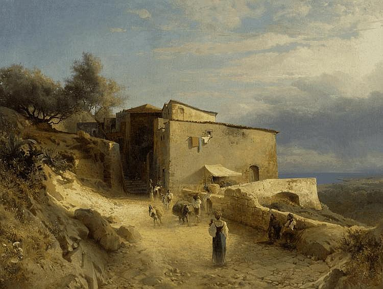 CALAME, ARTHUR (1843 Geneva 1919) Italian coastal
