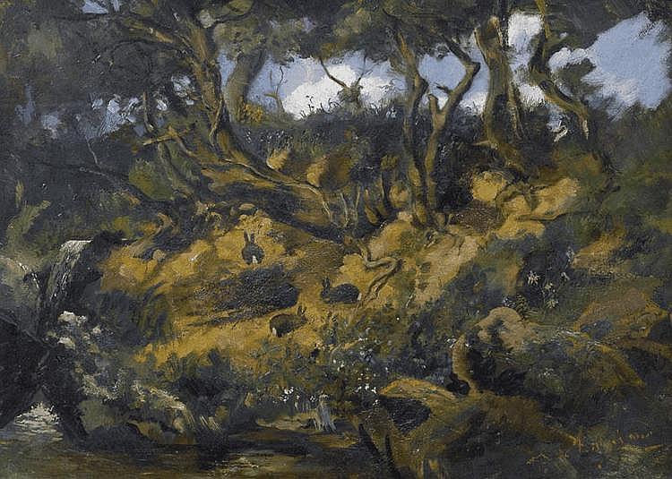 BUCHSER, FRANK (1828 Feldbrunnen 1890) Forest