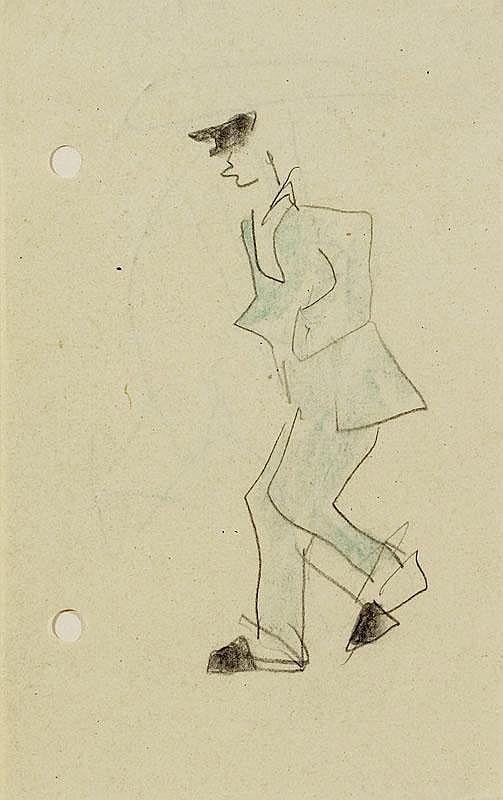 FEININGER, LYONEL (1871 New York 1956) Man in blue