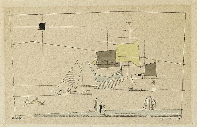 FEININGER, LYONEL (1871 New York 1956) Departure.