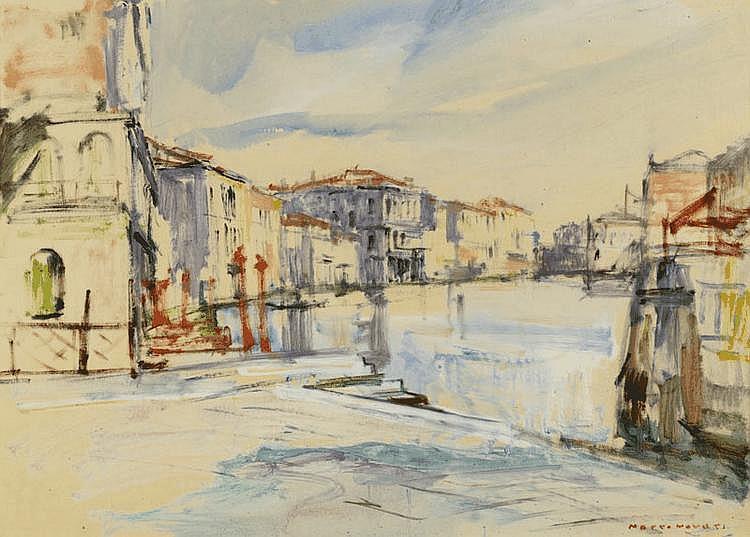 NOVATI, MARCO (1895 Venice 1975) City view. Oil on